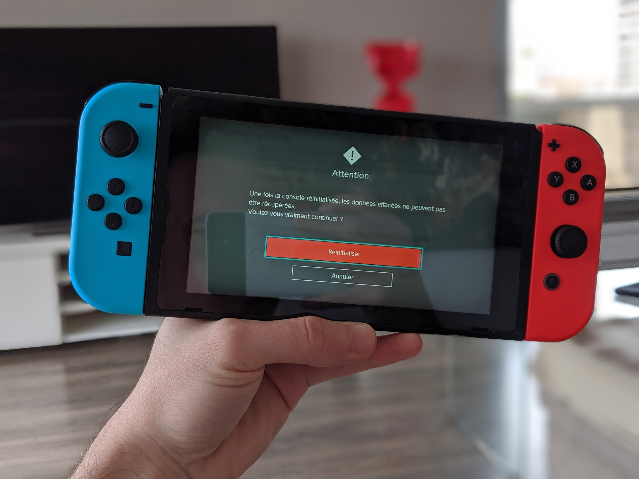 Comment réinitialiser sa Nintendo Switch