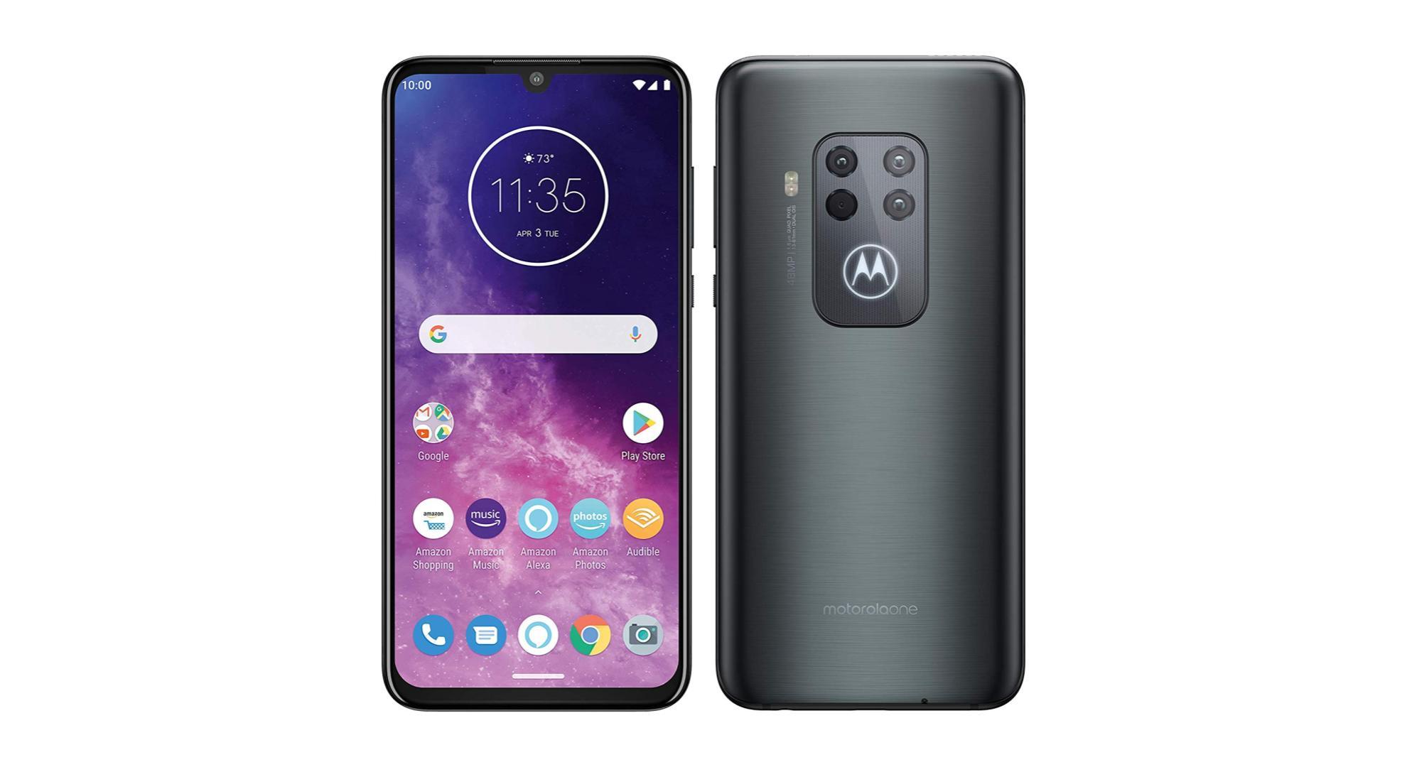 Motorola One Zoom : quadruple capteur photo et écran OLED pour 419 euros