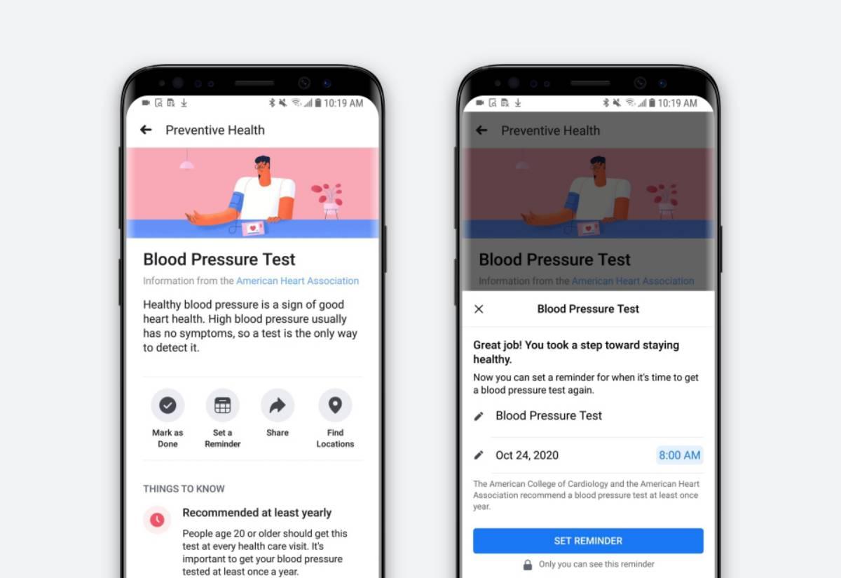 Facebook : un outil pour vous rappeler de passer des tests médicaux