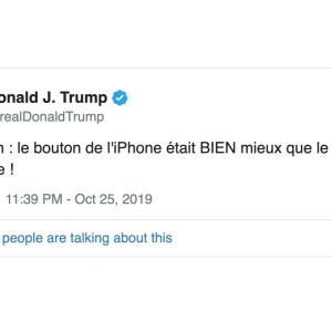 Donald Trump n'aime pas le swipe de l'iPhone et souhaite le retour du bouton d'accueil