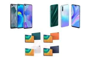 Huawei P smart 2020, Nova 6 et MatePad Pro dévoilés en images avant l'heure