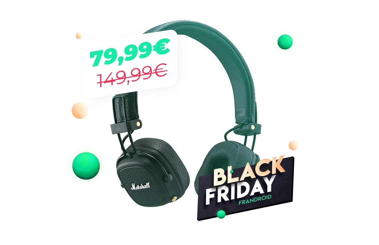 Le casque Bluetooth Marshall Major 3 à moitié prix pour le Black Friday