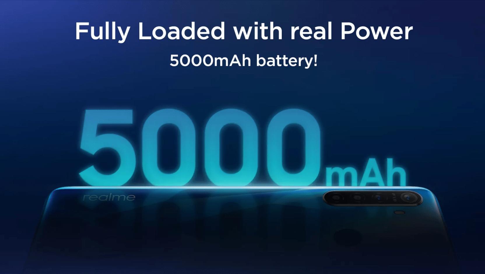 Realme 5s : batterie de 5000 mAh pour l'adversaire du Redmi Note 8