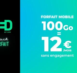 Voici le meilleur forfait mobile du Black Friday : 100 Go à 12 euros/mois à vie chez RED by SFR !