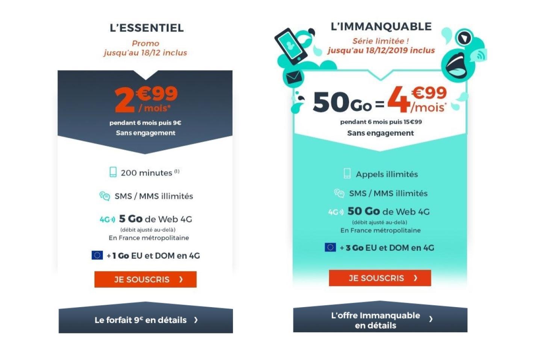 Forfaits mobile à petit prix : 50 Go pour 5 euros ou 5 Go pour 3 euros, vous avez le choix !
