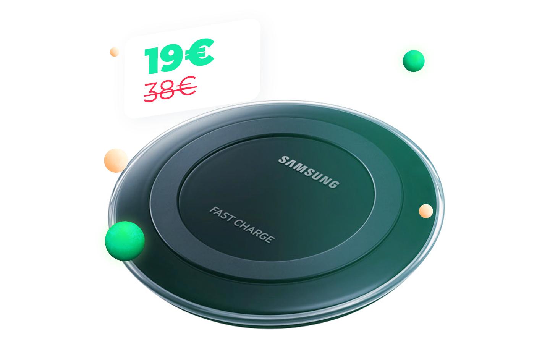Le chargeur sans-fil Samsung à moitié prix, ne laissez pas trainer vos fils avec le Cyber Monday