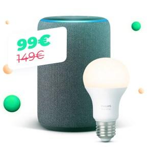 Le combo Echo Plus (2e génération) et Philips Hue White à 99 euros pour le Cyber Monday