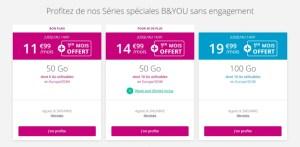 Bouygues Telecom : 1er mois offert avec les forfaits mobile B&You 50 et 100 Go