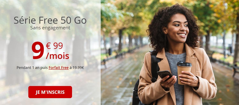 Free Mobile : 50 Go à moins de 10 €, puis le double après 1 an