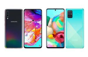 Samsung Galaxy A71,  A70 et A70s : qu'est-ce qui a changé ?