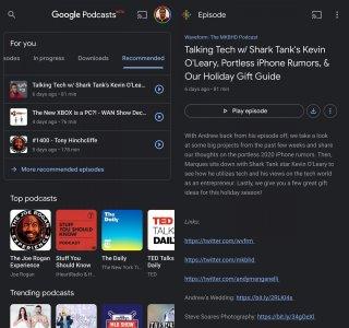 Google Podcasts : une mise à jour ajoute le thème sombre