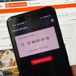 L'app de la semaine : un 06 ou un 07 provisoire sans changer de carte SIM, pratique pour se protéger