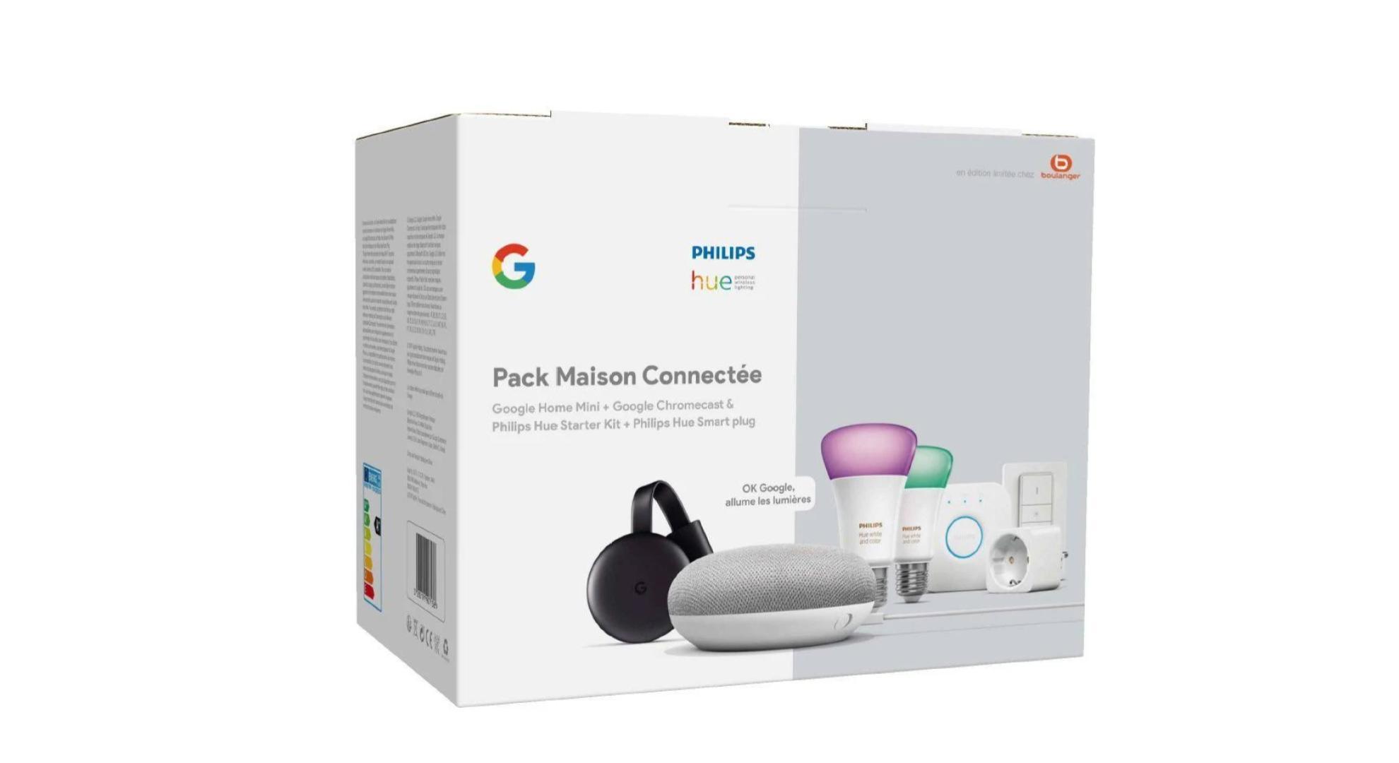 159 euros pour ce pack domotique Philips Hue (+accessoires), Google Home Mini et Chromecast