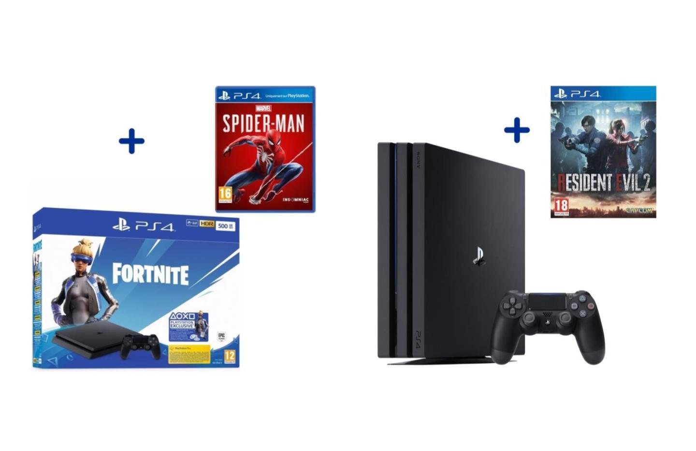 PlayStation4 : la Slim à 184€ et la Pro à 279€, le tout avec un jeu gratuit