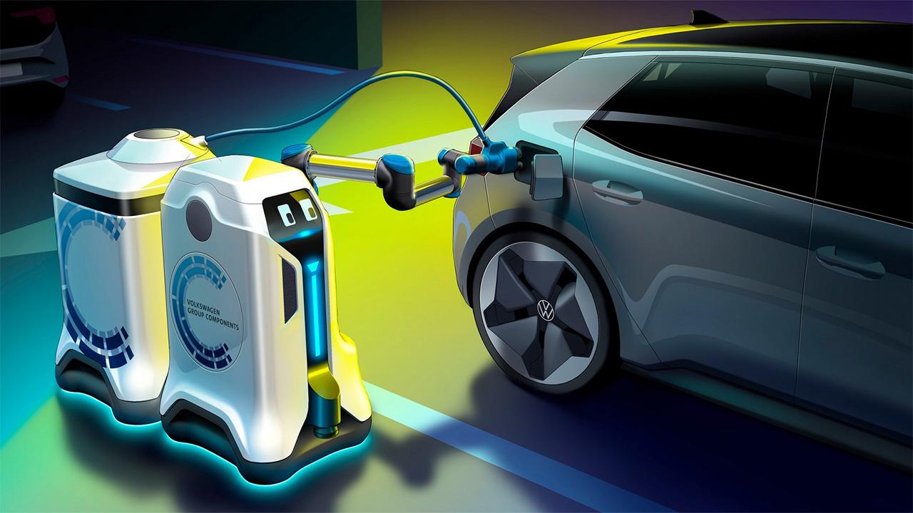 Volkswagen et son concept de robot pompiste pour les voitures électriques