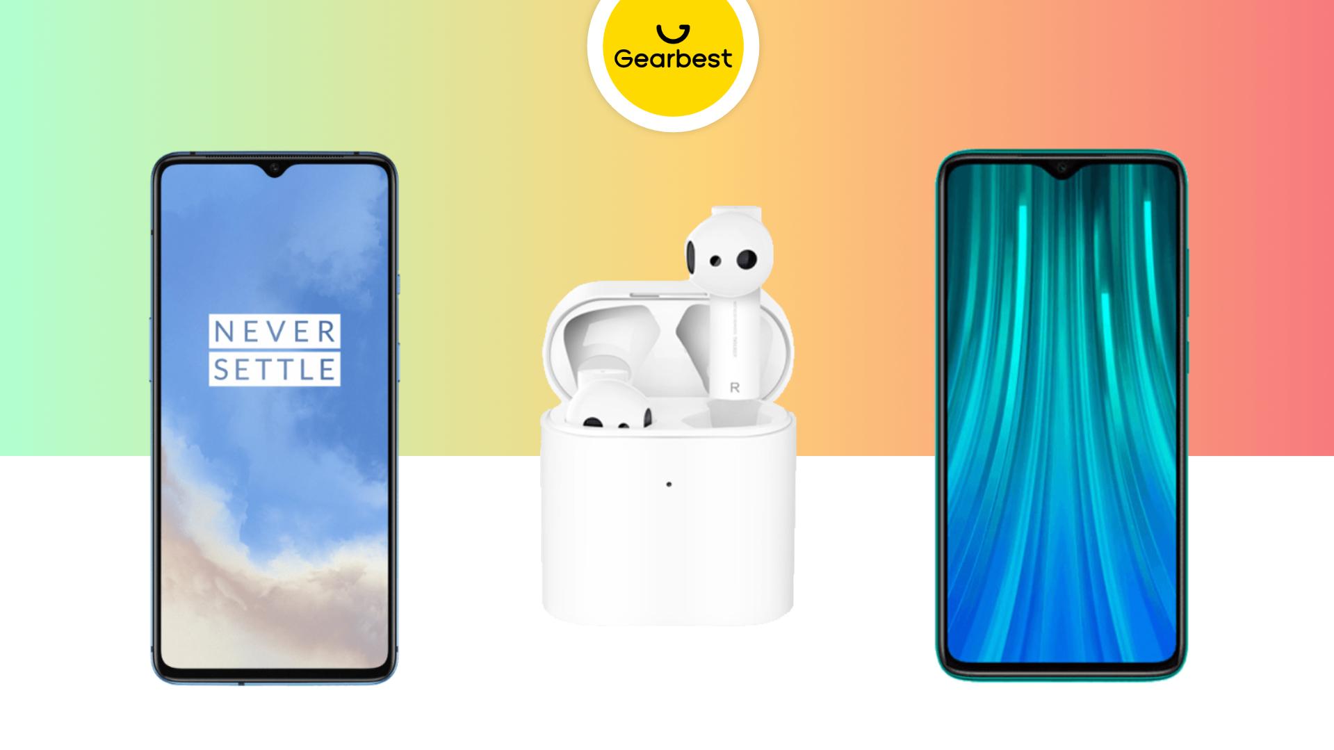 Redmi Note 8 Pro à 193 euros, Xiaomi Airdots Pro 2 à 48 euros et OnePlus 7T à 487 euros