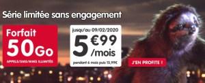 Forfait mobile : 50 Go à 5,99 euros par mois via une offre sans engagement