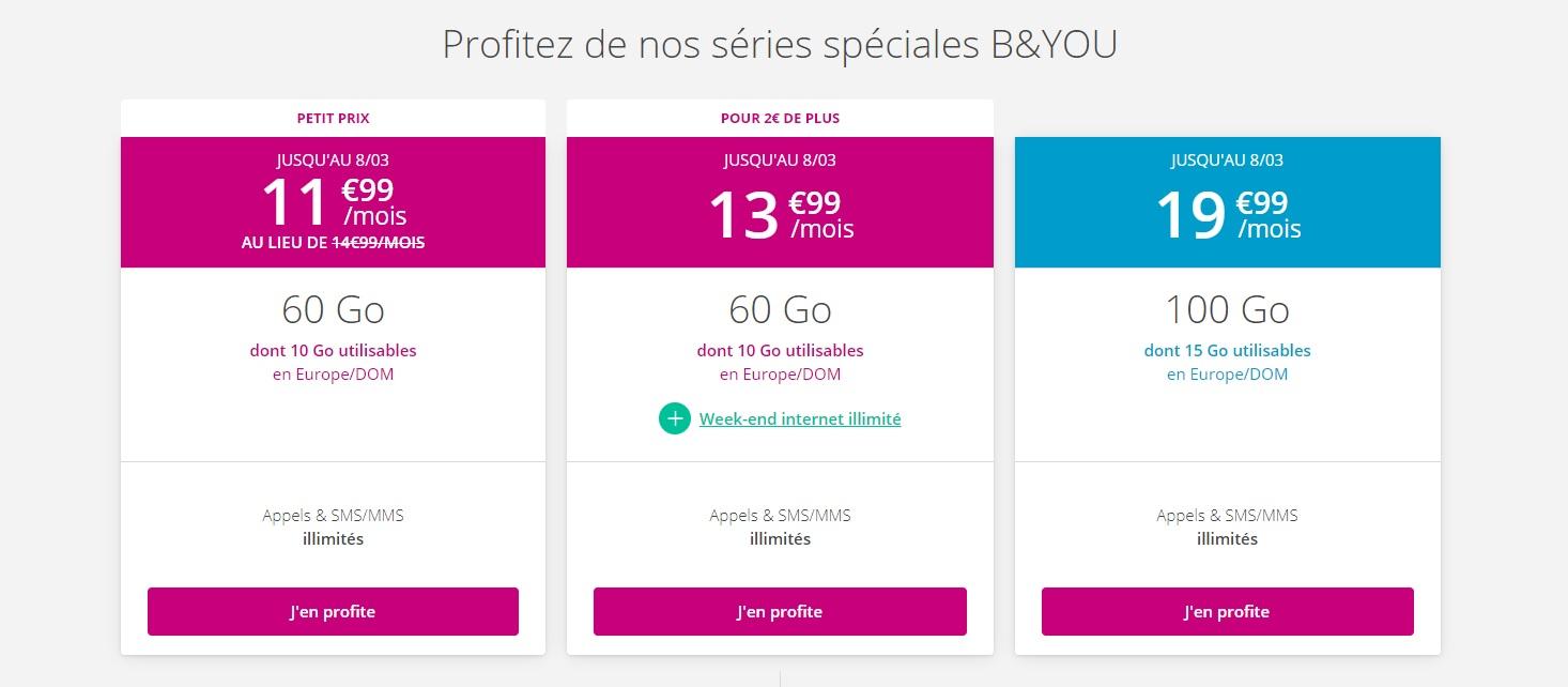 Forfait mobile: Bouygues Telecom relance ses offres B&You sans engagement
