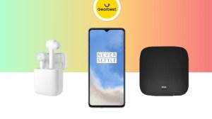 Le OnePlus 7T à 487 euros, la Xiaomi Mi TV Box à 47 euros, les Airdots Pro à 44 euros
