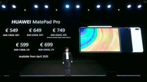 Huawei MatePad Pro : les prix et disponibilités en Europe dévoilés