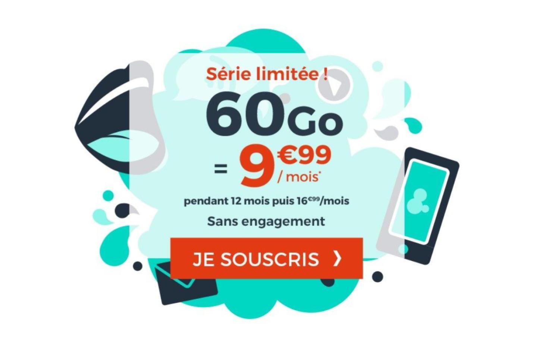 Un nouveau forfait mobile 60 Go à moins de 10 euros fait son apparition