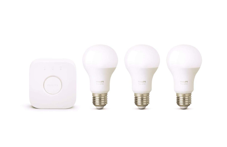 21 euros l'unité avec ce kit de démarrage 3 ampoules blanches Philips Hue