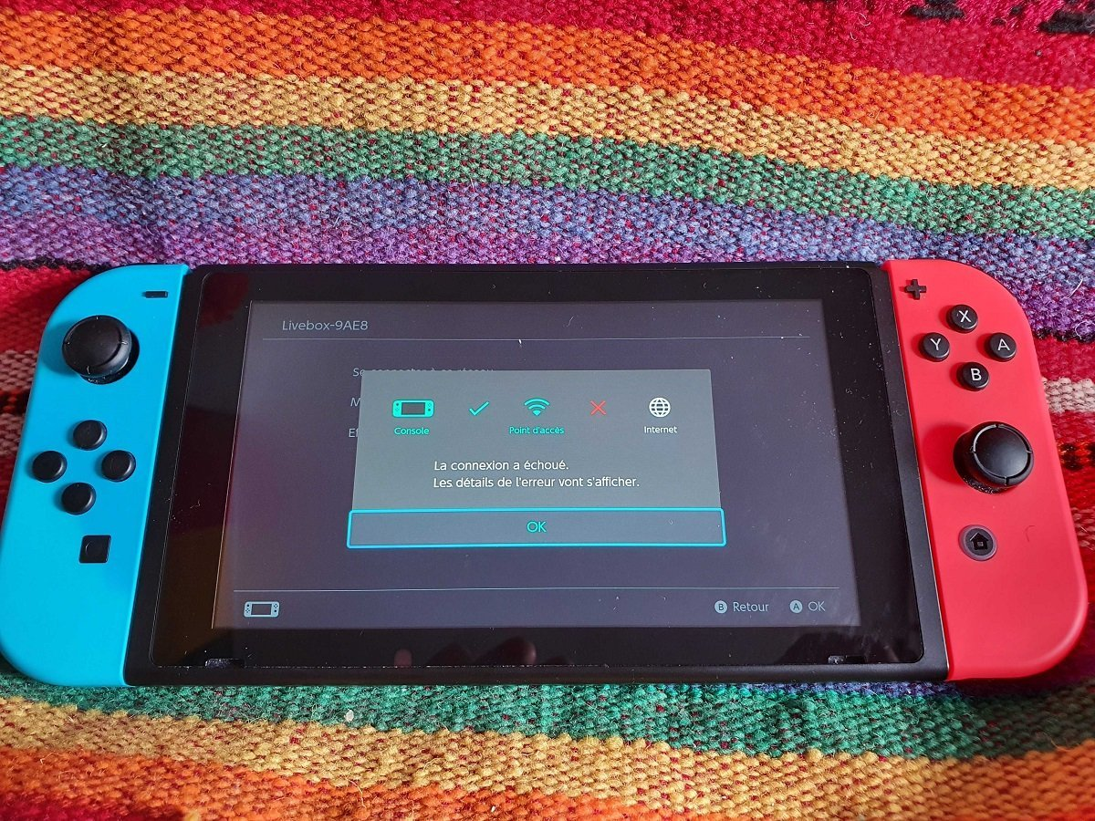 Nintendo Switch: panne Wi-Fi résolue