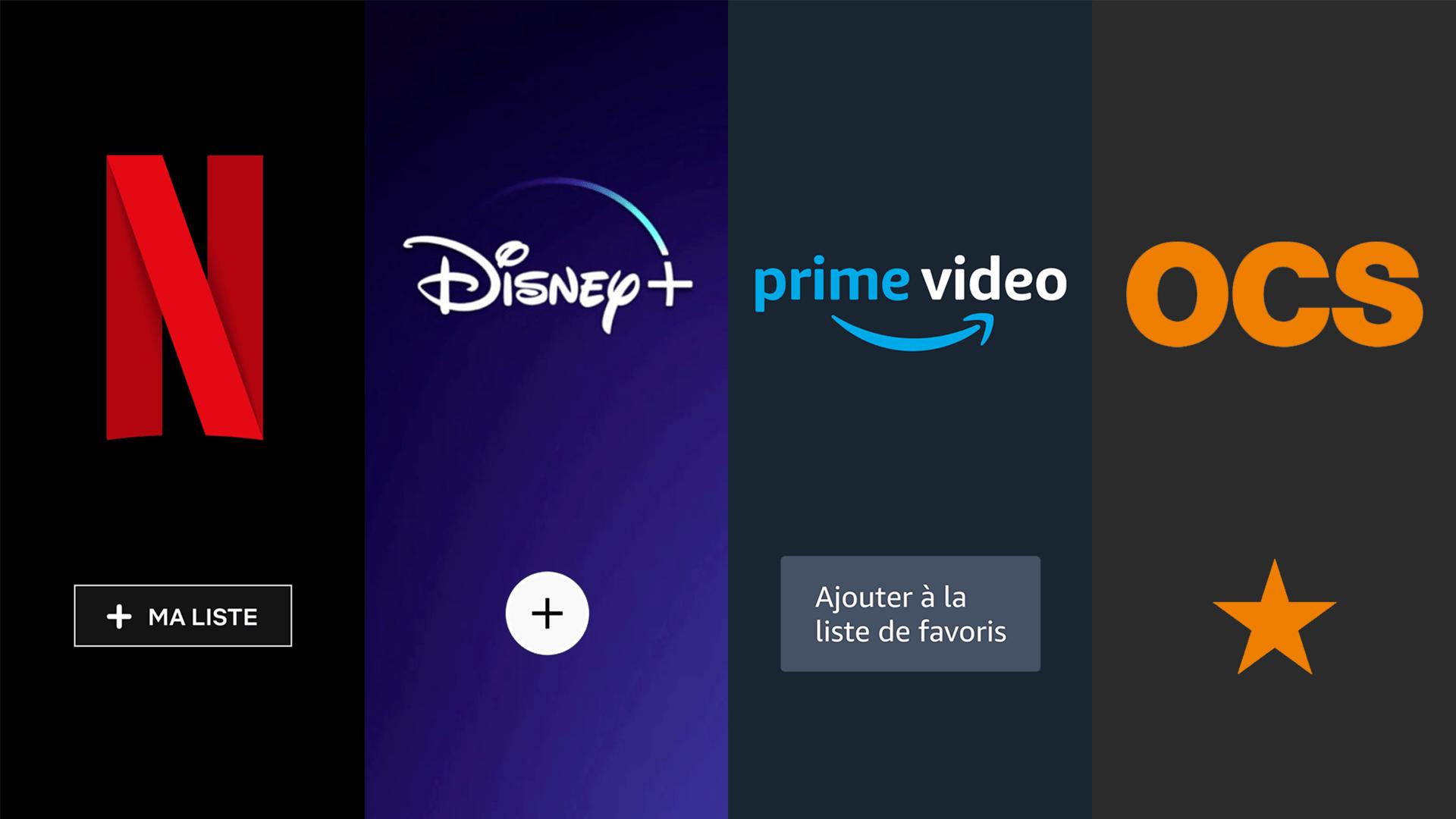 SVoD: comment gérer ses favoris sur Netflix, Disney+, Prime Video et OCS