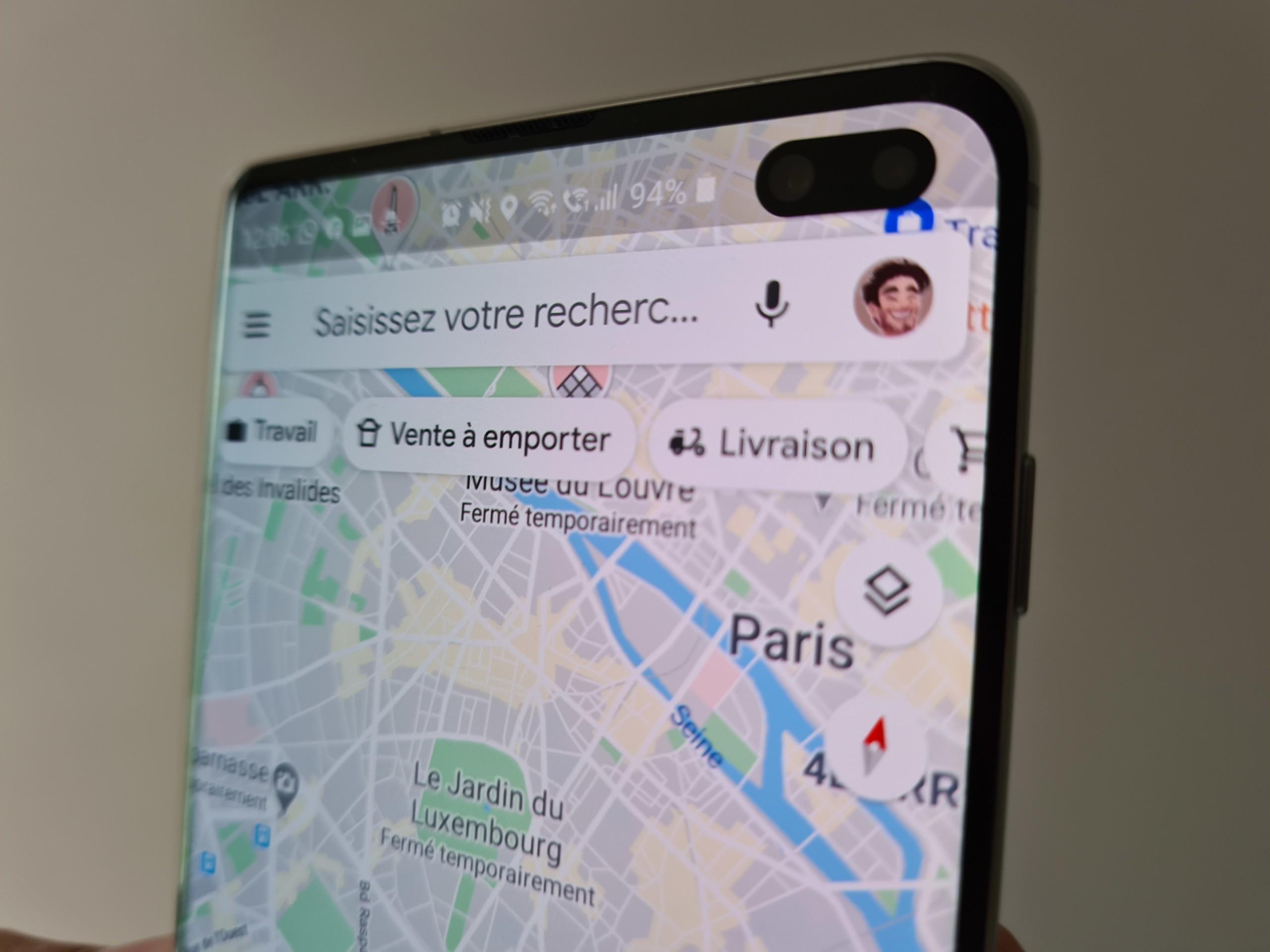 Google Maps met en avant les restaurants qui livrent pendant le confinement