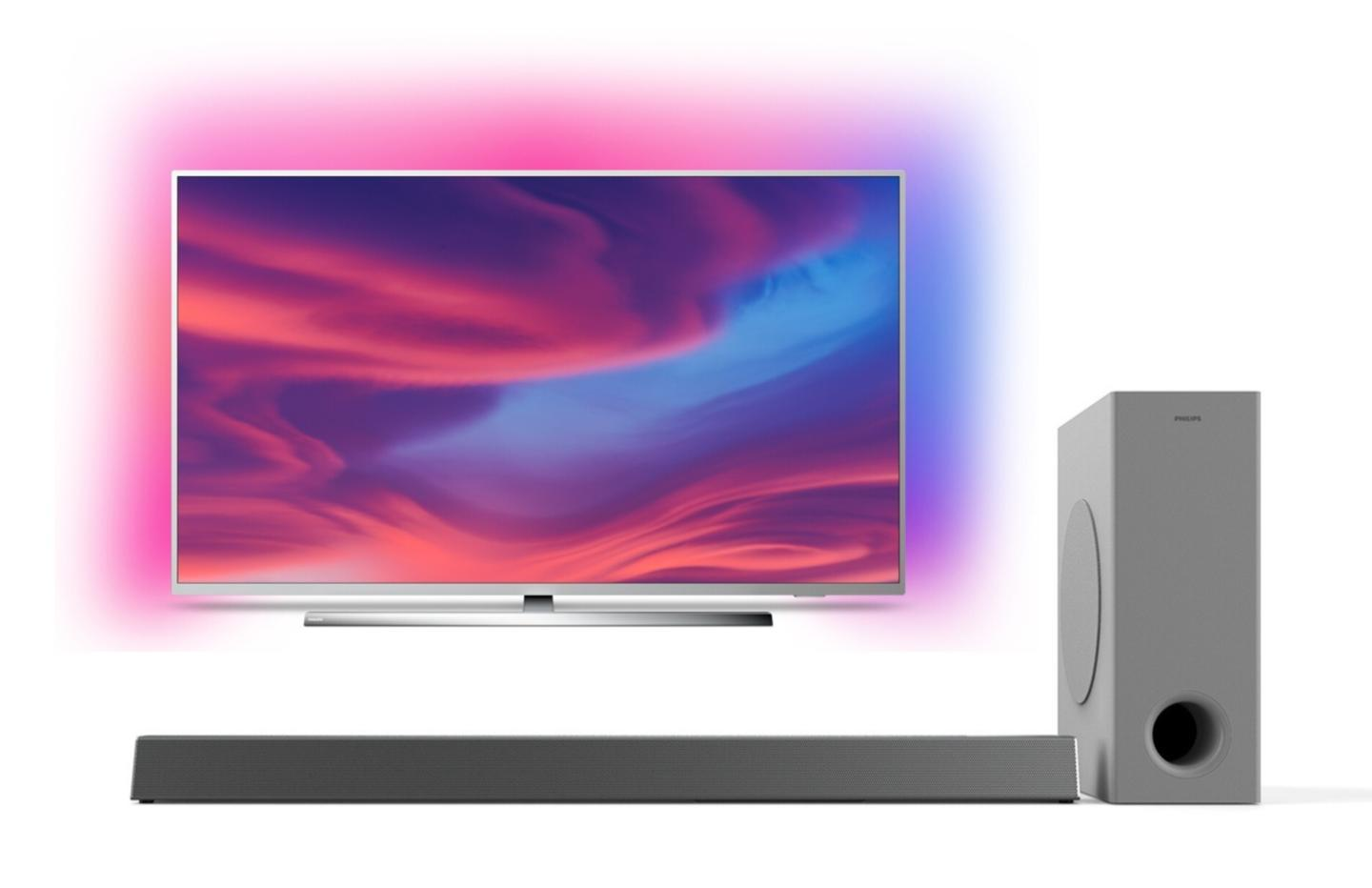 L'excellent TV Philips The One 65″ à prix cassé avec une barre de son offerte