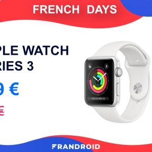 C'est le bon moment de craquer pour l'Apple Watch Series 3 lors des French Days