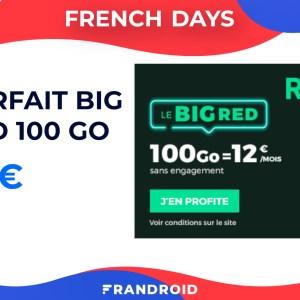 French Days : le forfait RED by SFR 100 Go à 12 € est de retour, même pour les abonnés actuels