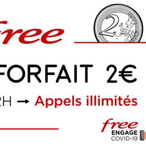 Free Mobile offre les appels illimités sur son forfait à deux euros