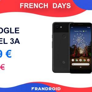 Le Google Pixel 3a ne coûte que 249 euros pendant les French Days