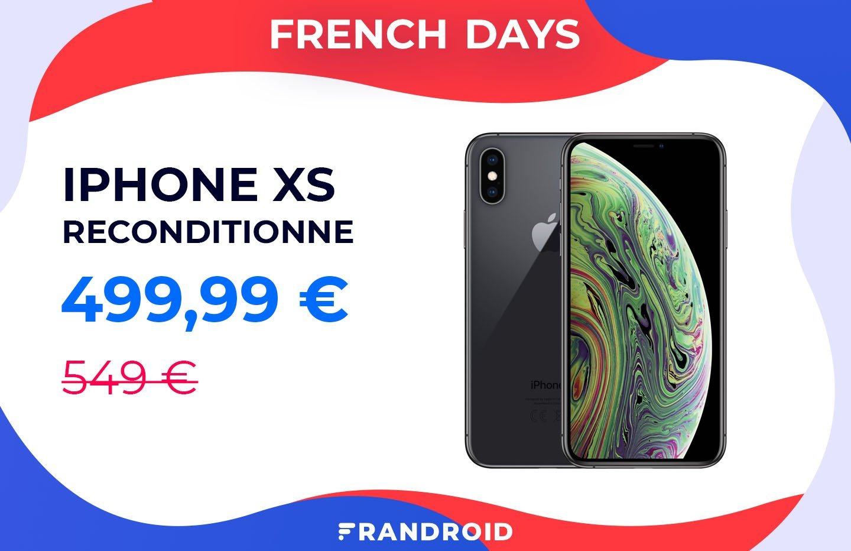 L'iPhone XS reconditionné est à moins de 500 euros pour les French Days