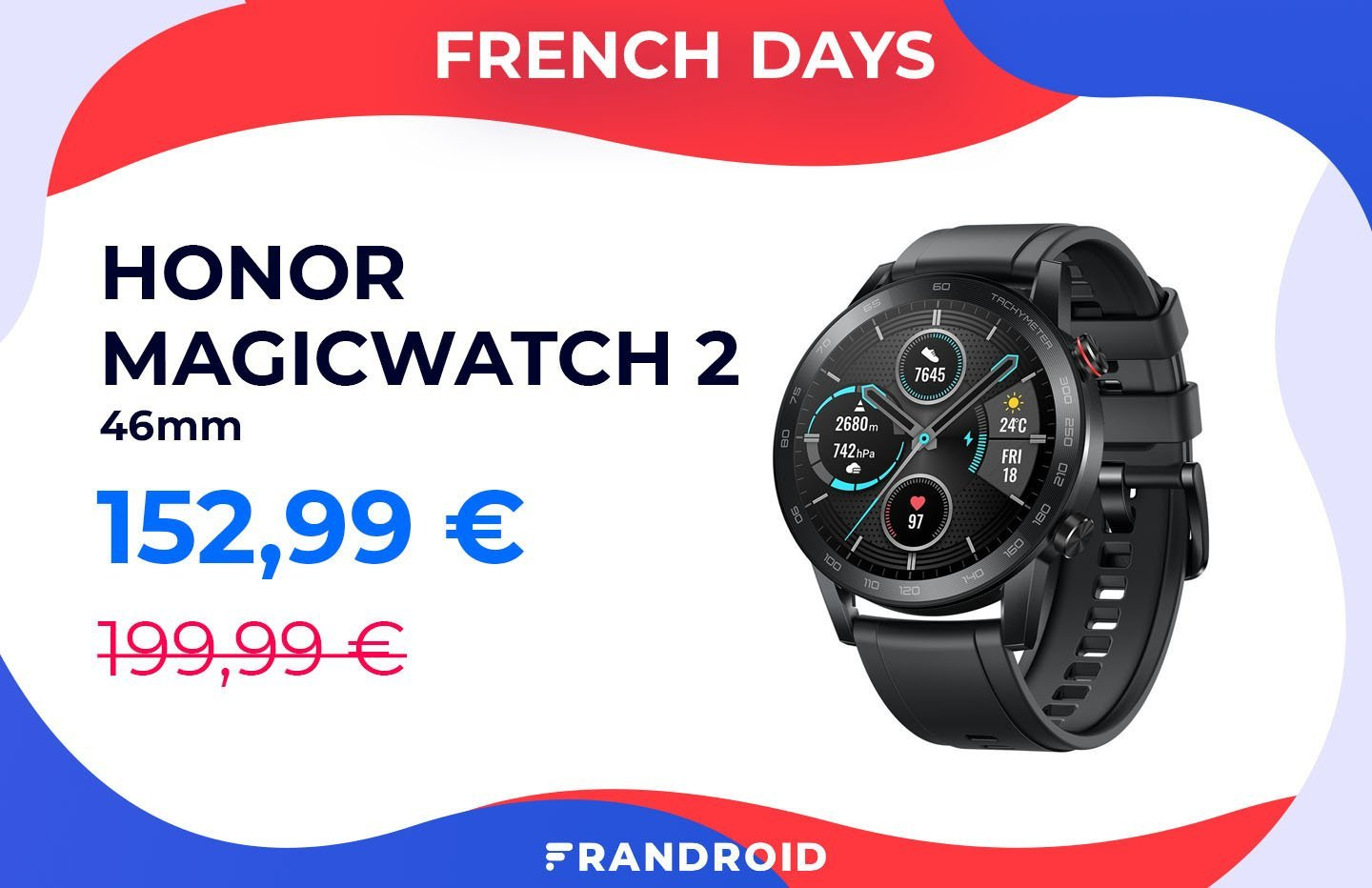 Honor MagicWatch 2 : le clone abordable de la Huawei Watch GT 2 avec 50 € de remise