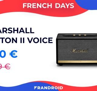 Ok Google, baisse le prix de la Marshall Action II Voice pour les French Days