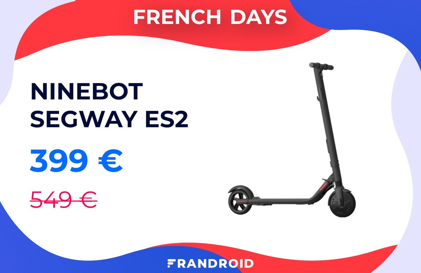 La trottinette Ninebot Segway ES2 profite d'une réduction de 150 euros pendant les French Days