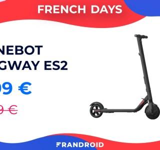 La trottinette Ninebot Segway ES2 profite d'une réduction de 150 euros pendant les French Days