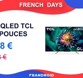 TCL brade son TV QLED de 65 pouces à moins de 600 euros pour les French Days
