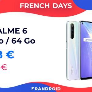 Le Realme 6 (écran 90 Hz) est sous la barre des 200 € pour les French Days