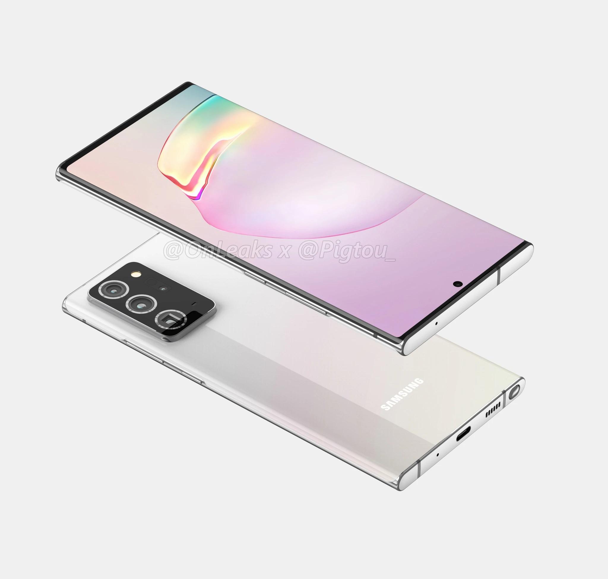 Le Samsung Galaxy Note20 n'aurait droit qu'à écran plat, limité au Full HD à 60Hz