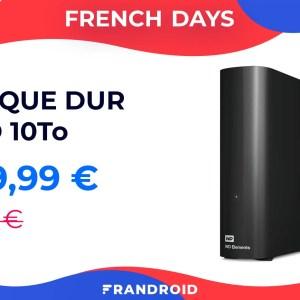 20 euros le To avec ce disque dur Western Digital 10 To à 200 euros