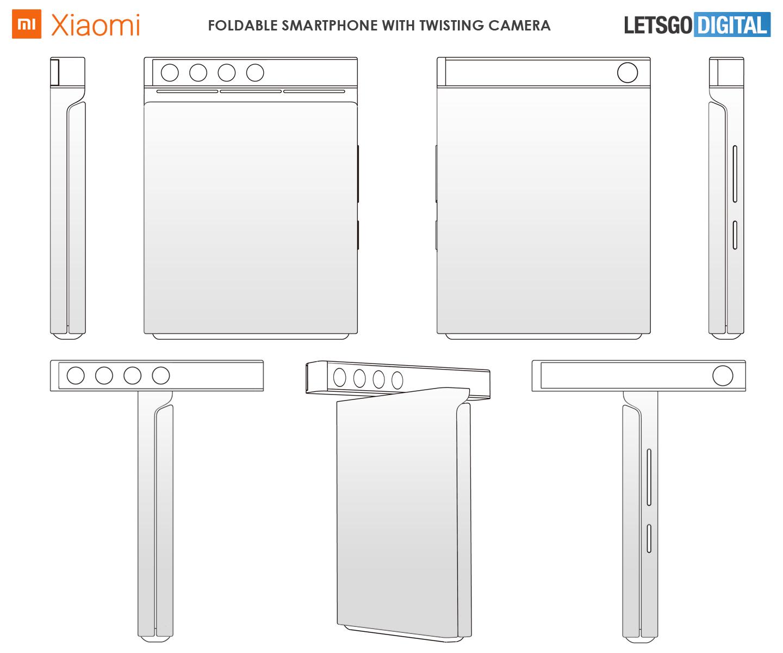 Un smartphone à clapet avec module photo pivotable, Xiaomi brevette une idée atypique