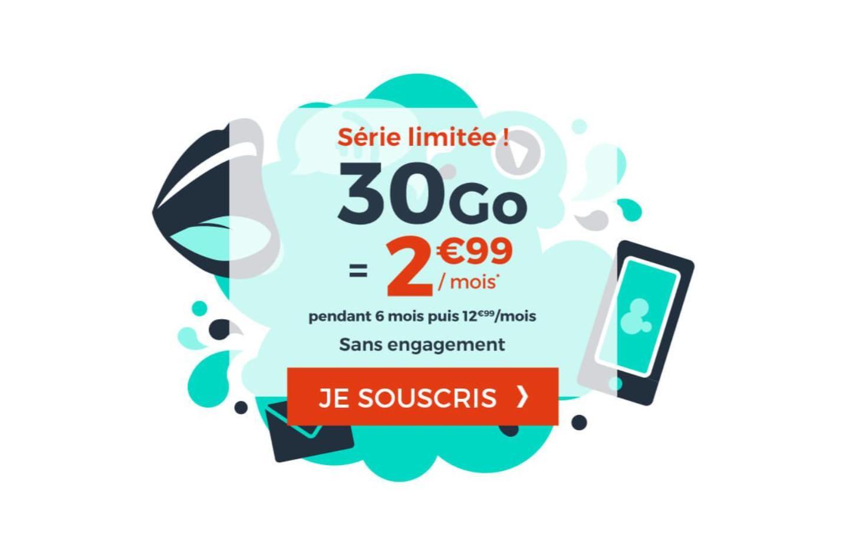 30 Go de 4G pour moins de 3 euros avec ce forfait mobile