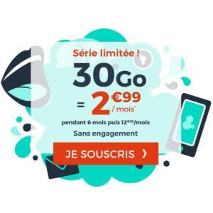 Ce forfait mobile propose 30 Go de 4G pour moins de 3 euros [dernier jour]