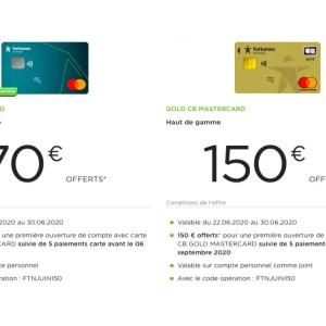 Fortuneo : jusqu'à 150 euros offerts pour l'ouverture d'un compte bancaire en ligne