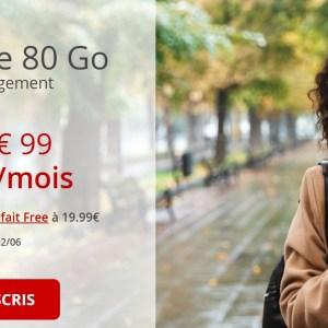 C'est maintenant ou jamais pour le forfait mobile Free 80 Go à 10,99 €/mois