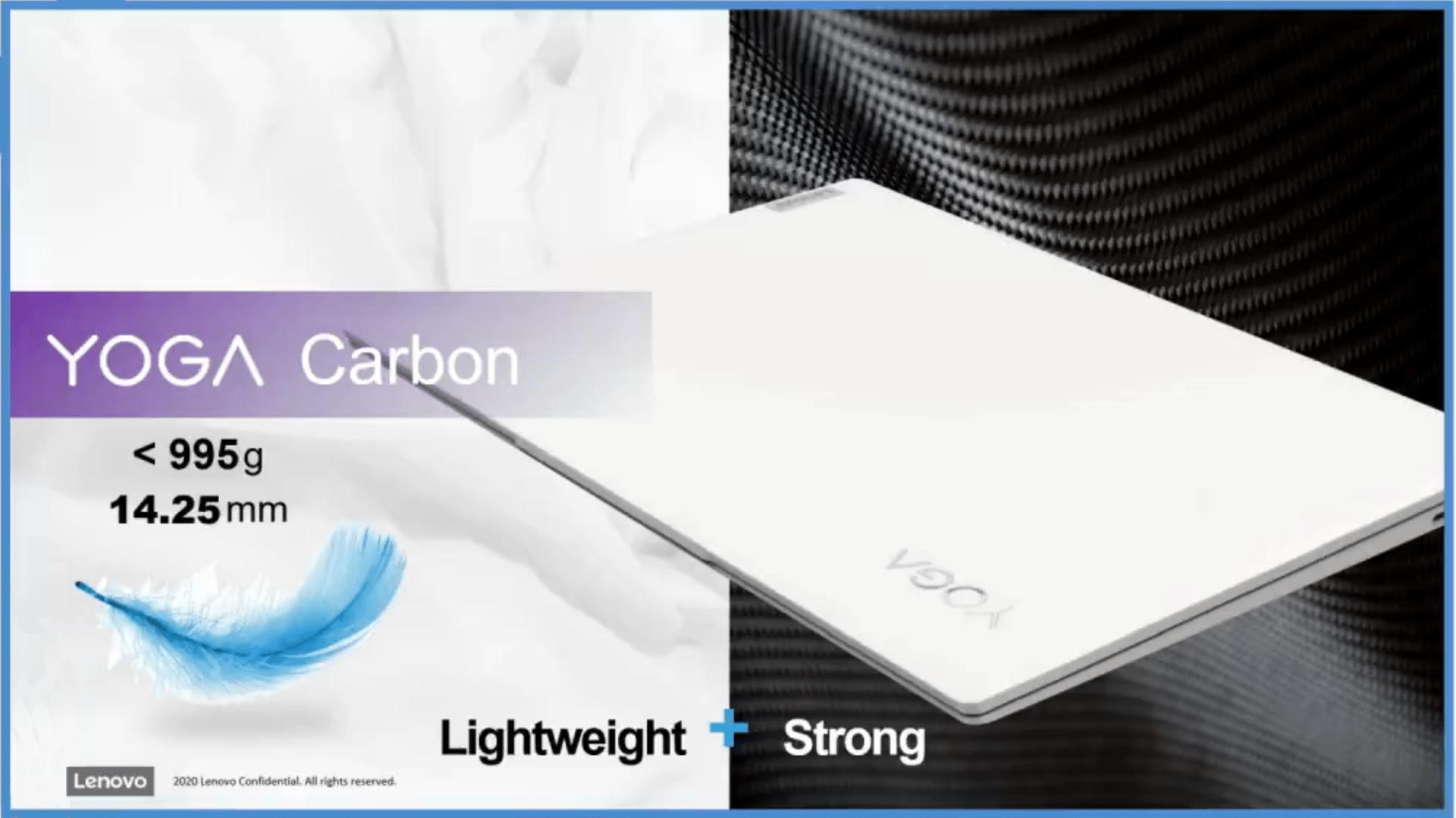 Lenovo Yoga Carbon : Intel Core i7 Tiger Lake, poids plume et une autonomie monstrueuse