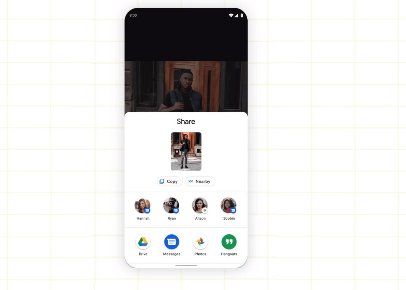 Android 11 : Google montre un premier aperçu de son concurrent d'AirDrop